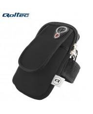 Qoltec 50308 Multifunciton Universal Armband for Fitness & Running (17.5x9.5cm) Black