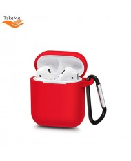 TakeMe Ultra-thin Soft Silicone protective case for AirPods Red