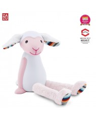 Zazu Fin Smart Lamb - Lamp and nightlight with auto OFF function (after 60 min) for kids 0+ Pink