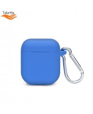 TakeMe Ultra-thin Soft Silicone protective case for AirPods Blue