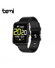 Bemi KIX Smart & Fit Watch with Full Touch 1.3'' IPS Media control / HR / Blood pressure / Social Black