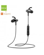 QCY M1C Bluetooth 5.0 Metal Magnetic Clip Cable Sport Super Fit Earphones with Mic Remote Black