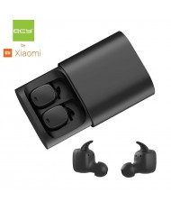 QCY T1 PRO TWS Bluetooth Stereo Compact In-Ear Fit Earbuds with Metal Clip Charger Case Black