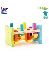Woody 91841 Wooden/Plastic Educational color Hammering toy with stand and forms for kids 2y+ (23x16.5x14cm)