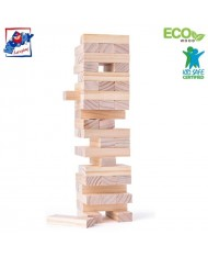 """Woody 10100 Eco Wooden Educational building bricks - tower """"Tonny"""" (48pcs) for kids 3y+"""