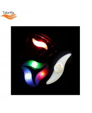TakeMe Bike Wheel Spokes Water resistant Safety LED Light in 4 Colours flashing Desing 1
