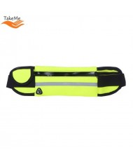 TakeMe Ultimate Universal Running Waist bag with bottle pocket and 3 pockets Green
