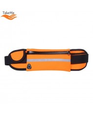 TakeMe Ultimate Universal Running Waist bag with bottle pocket and 3 pockets Orange