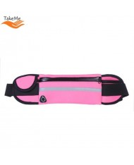 TakeMe Ultimate Universal Running Waist bag with bottle pocket and 3 pockets Pink