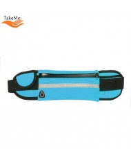 TakeMe Ultimate Universal Running Waist bag with bottle pocket and 3 pockets Blue