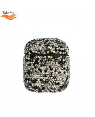 TakeMe Ultra-thin protective case for AirPods with Sparkle Diamonds Black