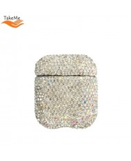 TakeMe Ultra-thin protective case for AirPods with Sparkle Diamonds Silver