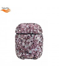 TakeMe Ultra-thin protective case for AirPods with Sparkle Diamonds Violet