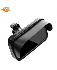 "TakeMe Universal Bike holder / universal steering wheel holder with baffle for devices 5,5-6,3"" Black"