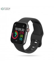 Tech-Protect soft silicone strap for Apple Watch 1 / 2 / 3 / 4 / 5 / 6 (42/44mm) Black