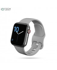 Tech-Protect soft silicone strap for Apple Watch 1 / 2 / 3 / 4 / 5 / 6 (42/44mm) Grey