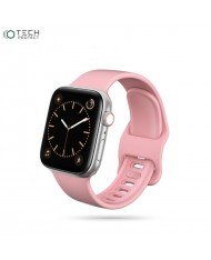 Tech-Protect soft silicone strap for Apple Watch 1 / 2 / 3 / 4 / 5 / 6 (42/44mm) Pink