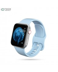 Tech-Protect soft silicone strap for Apple Watch 1 / 2 / 3 / 4 / 5 / 6 (42/44mm) Sky blue