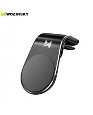 Wozinsky WCH-02 Universal Car Air Vent phone Holder with magnetic plate diam. 3.5cm Black