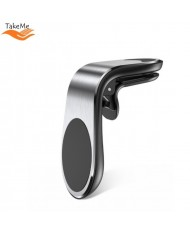 TakeMe A-22 Universal Car Air Vent phone Holder with magnetic plate diam. 3.2cm Silver