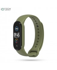 Tech-Protect soft silicone strap for Xiaomi Mi Band 5 Military Green