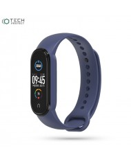 Tech-Protect soft silicone strap for Xiaomi Mi Band 5 Blue