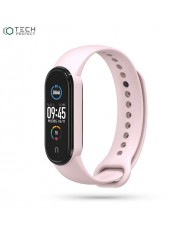 Tech-Protect soft silicone strap for Xiaomi Mi Band 5 Pink