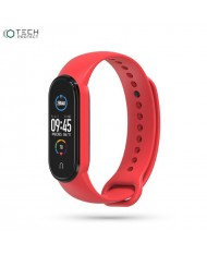 Tech-Protect soft silicone strap for Xiaomi Mi Band 5 Red