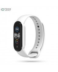Tech-Protect soft silicone strap for Xiaomi Mi Band 5 White