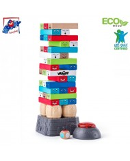 Woody 10212 Wooden Puzle Tower Educational Kids Brain Game with Electric Magnet 3+ years (10.5 x 29cm)