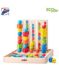 Woody 90469 Eco Wooden Educational Logic Game Beads Sequencing Set kids 3+ (55pcs) (32x33cm)