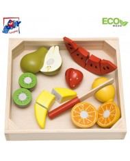 Woody 90670 Eco Wooden Educational Cutting Super Big Fruits for kids 3+ years (30x28cm)
