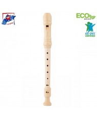 Woody 91832 Eco Wooden musical Instrument - Classic Flute for kids 3+ (33cm)