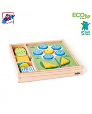 Woody 91915 Eco Wooden Educational Nature Shape sorting Puzzle (33pcs) 2+years (27x27cm)