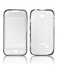 Forcell Samsung S5330 Wave Silicone Back Case Lux Transparent/Black