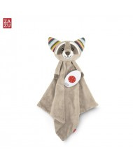 Zazu Robin Racoon - Soft toy Comforter blanket with melodies / cry sensor for childrens (0+)