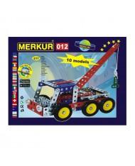 Merkur 012 Retro Dad's Educational Metal Construction 'Service car' (217 parts), 10 models (5y.+)