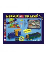 Merkur 031 Retro Dad's Educational Metal Construction 'Railway' (211 parts), 10 models (5y.+)