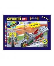 Merkur 011 Retro Dad's Educational Metal Construction 'Motorcycle' (222 parts) 10 models (5y.+)