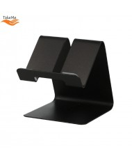 TakeMe Universal Metal Mobile Phone Table Holder for Video front WEB camera calls Black