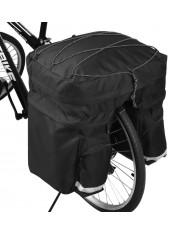 Wozy 13BK Pannier Traveler Bicycle Rear Trunk Bag with Shoulder Strap and Bottle Case 60L Black