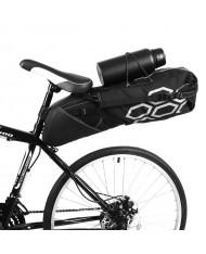 Wozy 9BK Large Space Bicycle Travel Bag under the saddle with bottle Fix holder 12L Black