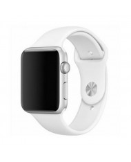 Mercury Classic soft silicone strap for Apple Watch 4 / 5 / 6 / SE series 44mm White