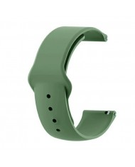 Beline Classic soft silicone strap for Smart Watches with strap width 22mm Green