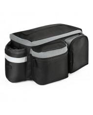Wozy 3BK Traveler Bicycle Rear Trunk Bag with Shoulder Strap and Bottle Case 6L Black