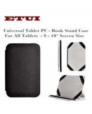"""Etui Slim Eco Leather Book Case with stand - Universal for all Tablet PC with 10"""" screen Black"""