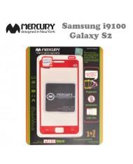 Mercury Anti Fingerprint Screen & phone color protector Samsung i9100 Galaxy S2 Red