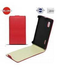 Telone Neo Slim Flip Case Samsung i9500 Galaxy S4 vertical book case Red