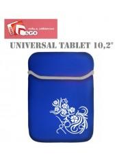 Ego Universal 10.2 27x19cm Tablet PC Neopren Pouch Case Black White Flowers