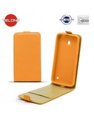 Telone Shine Pocket Slim Flip Case LG D405n Optimus L90 vertical book case Orange
